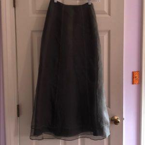 Unique and elegant Anthro full-length silk skirt.